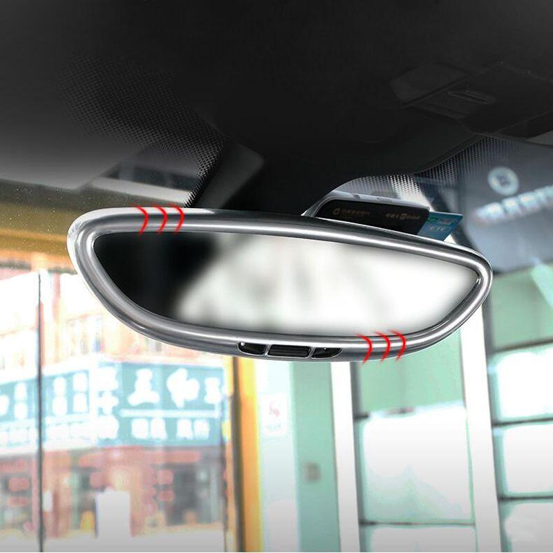 Voiture-style intérieur rétroviseur couverture cadre décoration couverture garniture bande 3D autocollant décalcomanies pour Porsche Cayenne Macan panamera