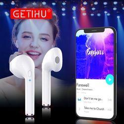 GETIHU Bluetooth Earphone Headphones Phone Sport Headset in Ear Buds Wireless Mini Earphones Earpiece For iPhone Samsung stereo