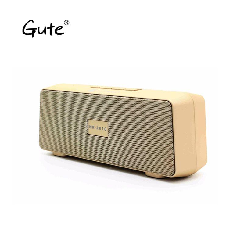 Gute 2018 hot square wireless Bluetooth speaker FM Radio portable dual speakers enceinte bluetooth puissant caixa de som ch2 dia