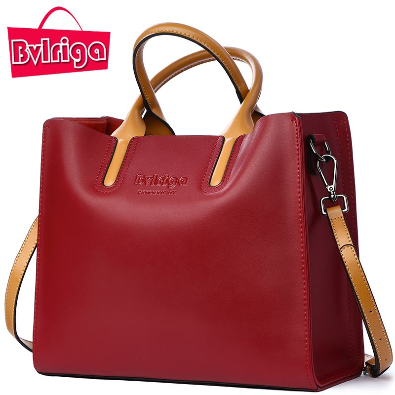 BVLRIGA Luxury Handbags Women Bags Designer Famous Brands Genuine Leather Bag Female Crossbody Messenger Shoulder Bag Tote Bag