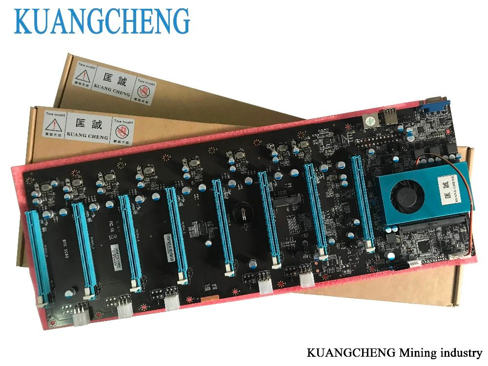 KUANGCHENG Mining Motherboard 8Graphics ETH miners (with cpu) BTC PLUS BTC ETH large board 8 GPU Antminer Mining Mainboard
