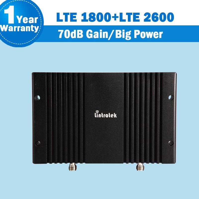 4G LTE 1800 2600 Signal Repeater 70dB Verstärkung GSM 1800 LTE 2600 Band 7 LTE 1800 Band 3 Dual band Handy Verstärker Booster S24
