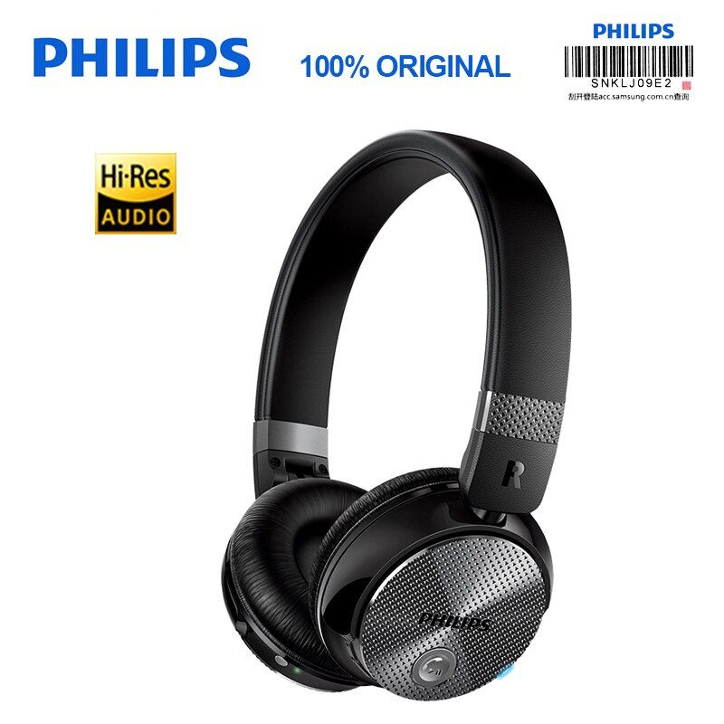 Original Philips SHB8850 Drahtlose Bluetooth Kopfhörer Aktive Noise Cancelling NFC Headset mit Mikrofon für S9 S9 Plus