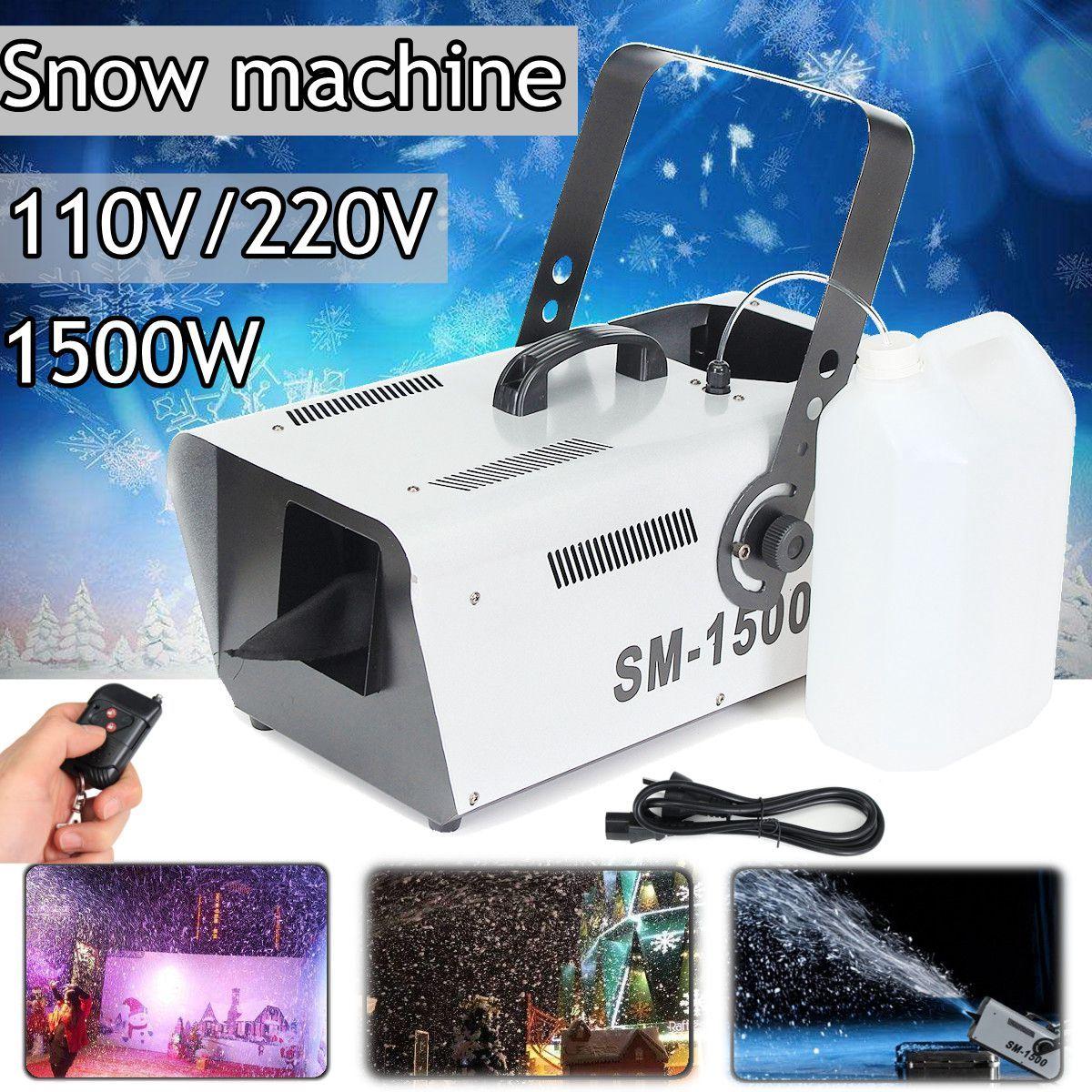 110V/220V 1500W Snow Machine Special Stage Effect Equipment Snowmaker Spray Snow Soap Foam Effect Machine DJ KTV