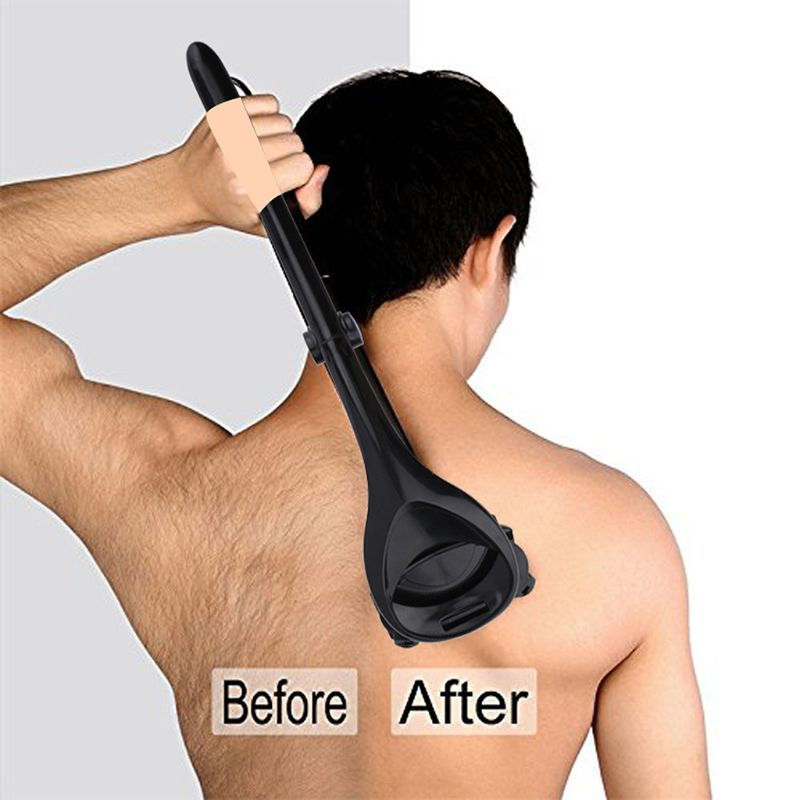 Men Two Head Blade Back Hair Shaver Trimmer Body Leg Razor Long Handle Removal Razors