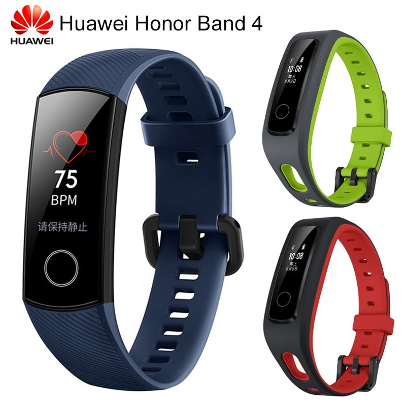 Original Huawei Honor Band 4 Standard Running Version Smart Wristband Heart Rate Monitor Sport Fitness bracelet men watchband