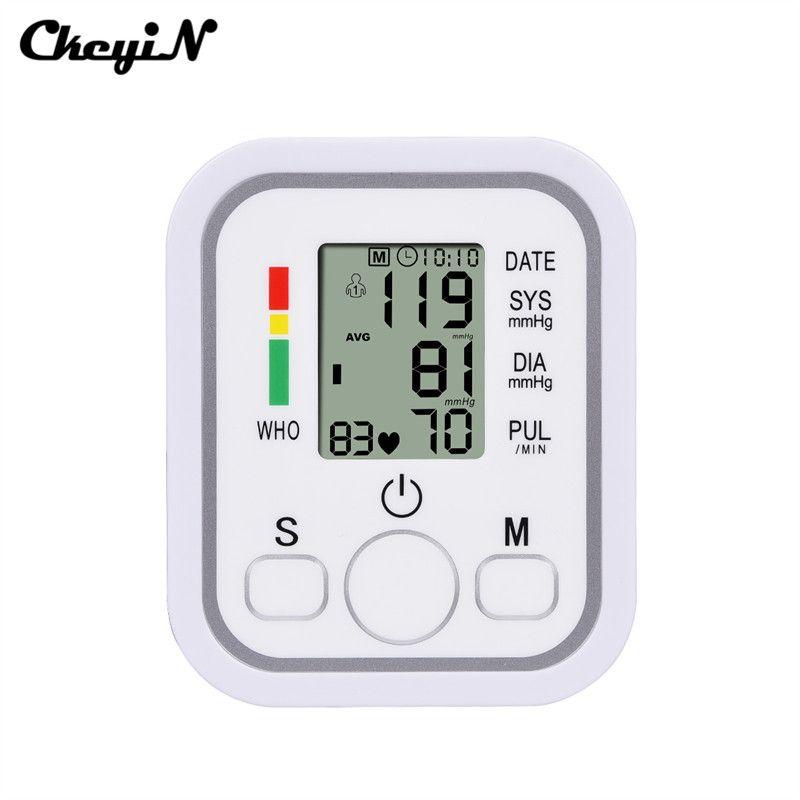 Tragbare Automatische Elektronische Digitale Oberarm-blutdruckmessgerät MeasuringPulse Tonometer Herzfrequenzmesser Erwachsene BP Manschette