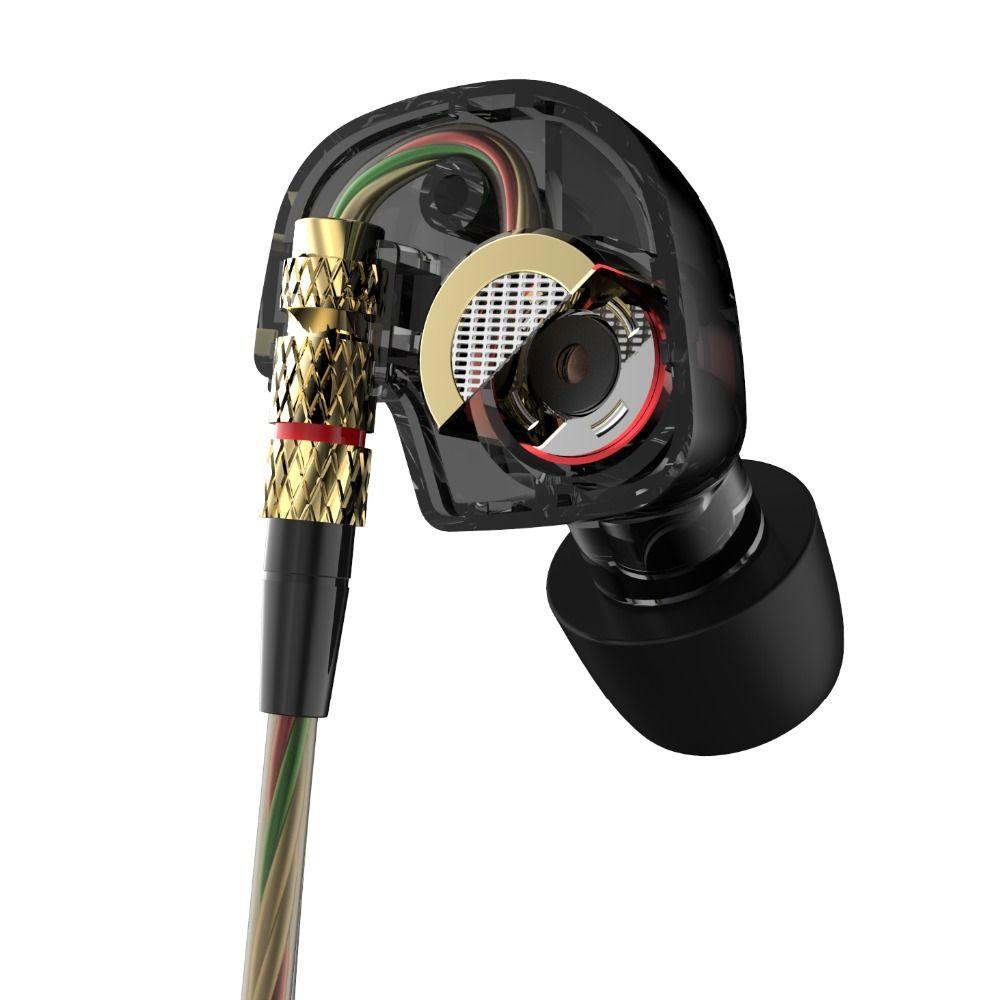 Earphone <font><b>2016</b></font> New Arrival Original KZ ATE 3.5mm in ear Earphones HIFI Metal auriculares Earphones Super Bass fone de ouvido