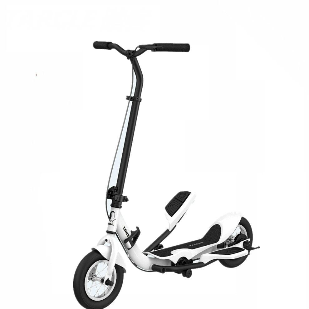 TARCLE 10 Inch Air Wheel Pedal Fold Scooter Fitness Stepper Carbon Scooter 16km/h