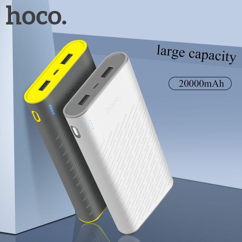 HOCO batterie externe 20000 mAh universel Powerbank Portable chargeur de batterie externe pour iPhone X XS XR 8 Xiaomi 8 double USB Pover Bank