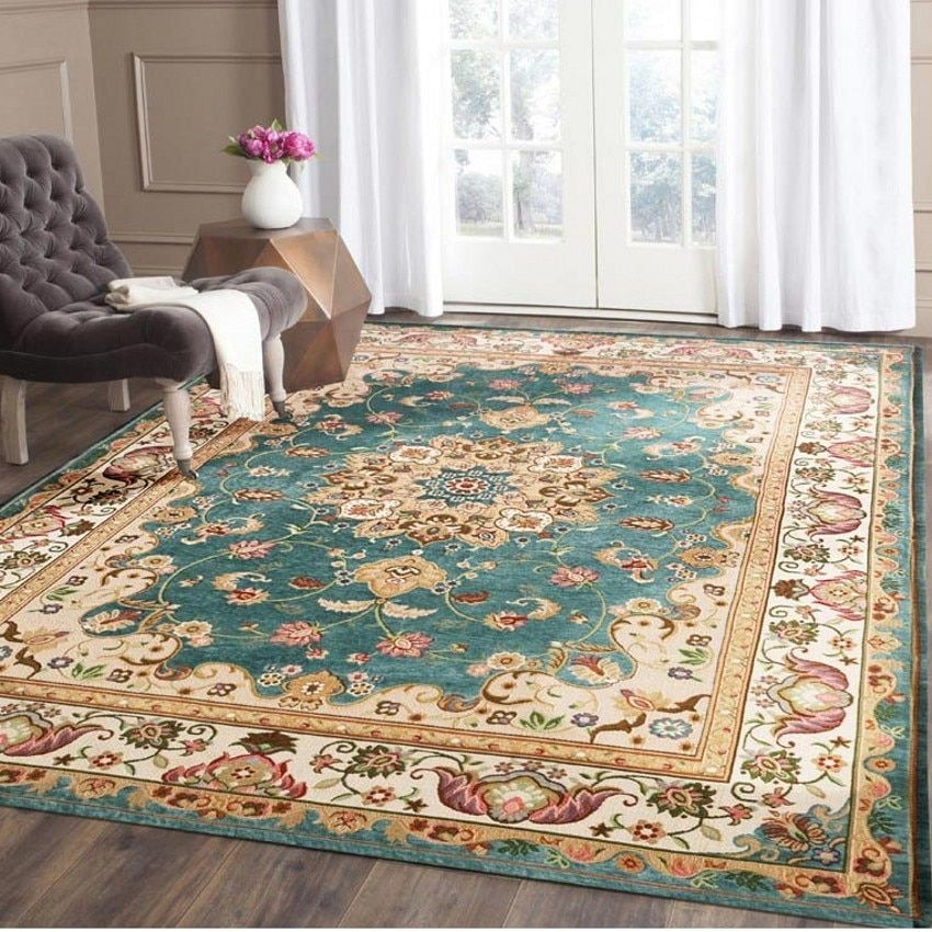 Retro style classical carpet big size living room coffee table carpet, rectangle ground mat , Persian home decoration mat