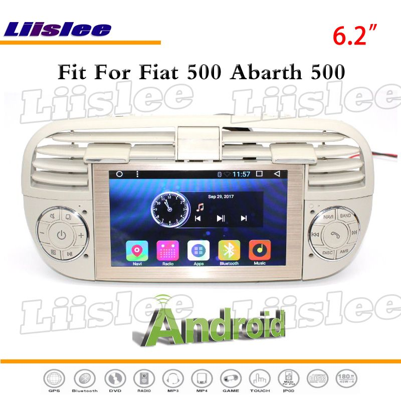Liislee For Fiat 500 For Abarth 2007~2016 Stereo Radio GPS Nav Navigation 1080P Touch Screen Multimedia System ( no DVD Player )