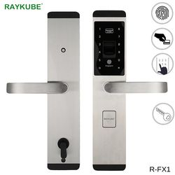 Raykube Kunci Sidik Jari Digital Kunci Pintu Elektronik untuk Rumah Anti-Theft Cerdas Kunci & RFID Kartu R-FX1