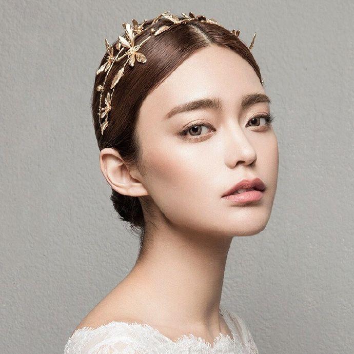 Vintage mariée bandeau libellule mariage diadème couronne or mariée cheveux accessoires bijoux deux rangées doré bandeau femmes diadème