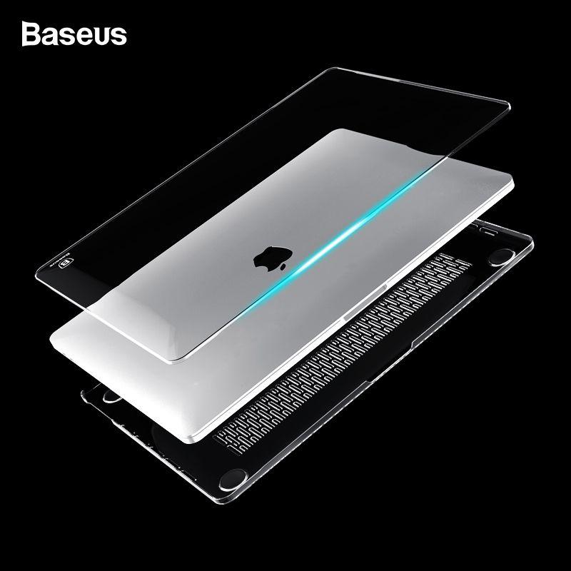 Baseus Mallette Pour Ordinateur Portable Pour Apple Nouveau Macbook Pro 13 15 2016 Modèle A1706 A1707 Avec Tactile Bar Effacer Cristal corps entier cas de couverture