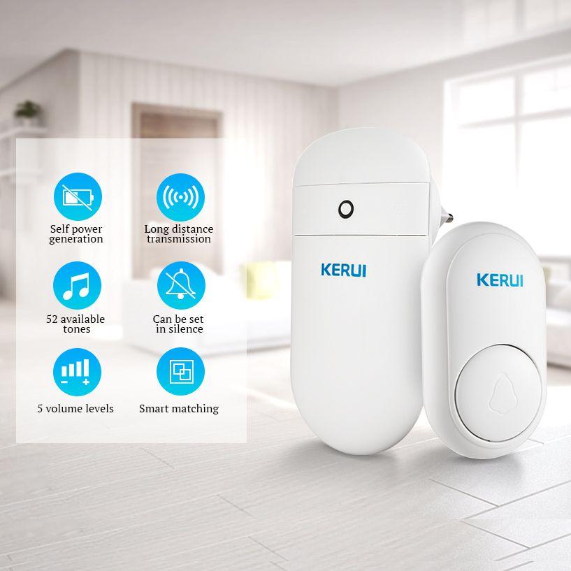 KERUI M518 selbst generation drahtlose türklingel hause intelligente elektronische fern keine batterie schnurlose türklingel