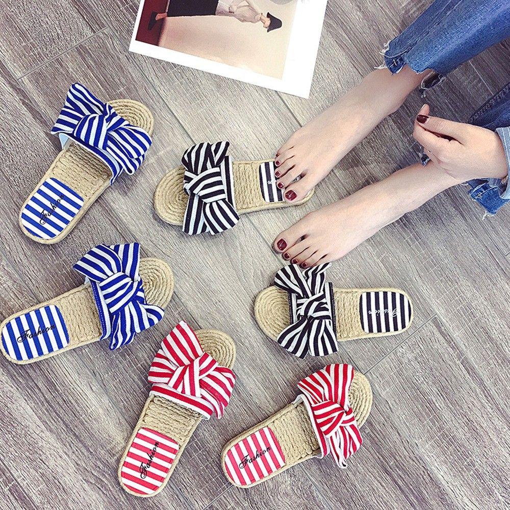 9798 summer slippers for women Fashion Flops Hemp Household Slippers Indoor Home Slip