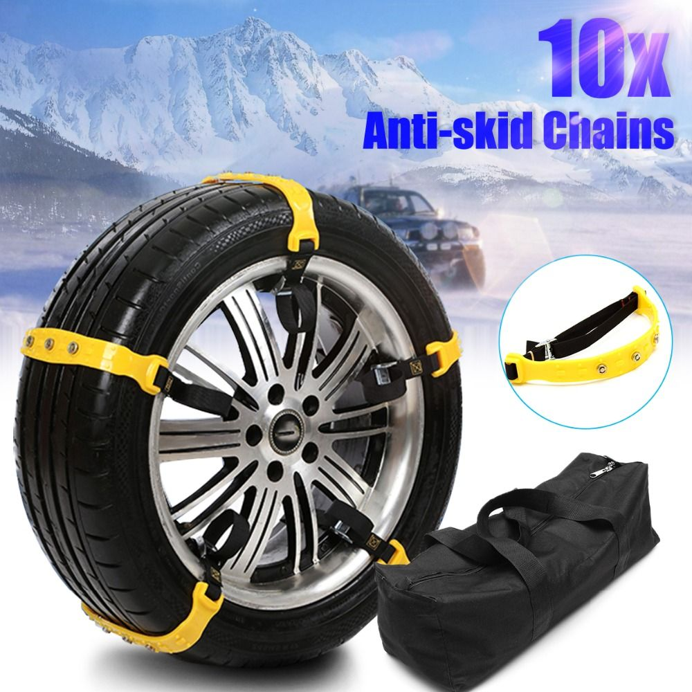 5 & 10 Pcs  Universal Tyres Wheels Snow Chains Car Snow Security Safety Tire Emergency Thickening Winter Anti-skid Chains