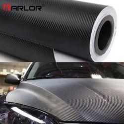 200 cm * 30 cm 3D Carbon Faser Vinyl Film 3 mt Auto Aufkleber Wasserdicht DIY Motorrad Autos Auto Styling wrap Rolle Zubehör