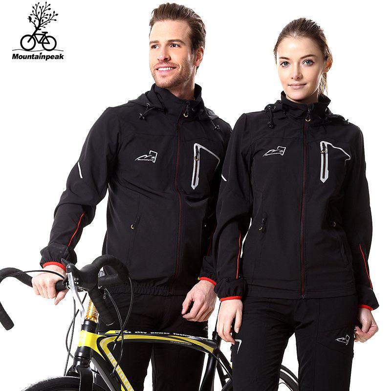 Mountainpeak Cycling Jersey Spring Autumn MTB Bike Clothing Waterproof Windproof Reflective Sportswear Jacket Pants Bicycle Sets