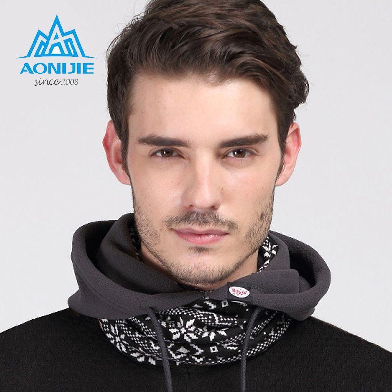 AONIJIE Outdoors Motorcycling Skiing Cycling Winter Hats Caps Face Mask Scarf Versatile Polyester Fleece Beanies Balaclavas