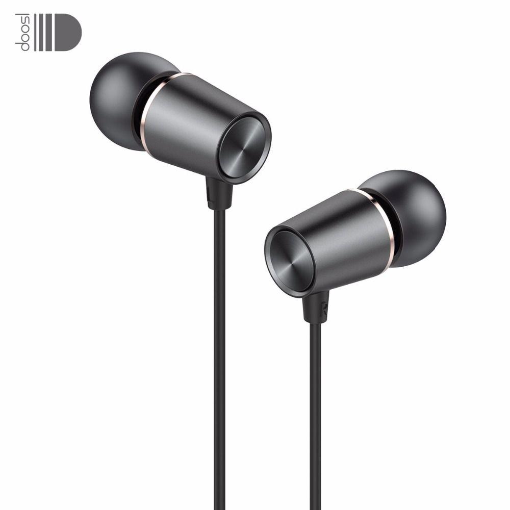 Doosl métal HiFi in-ear écouteur lourd basse qualité sonore musique écouteur stéréo écouteurs casque pour iPhone fone de ouvido