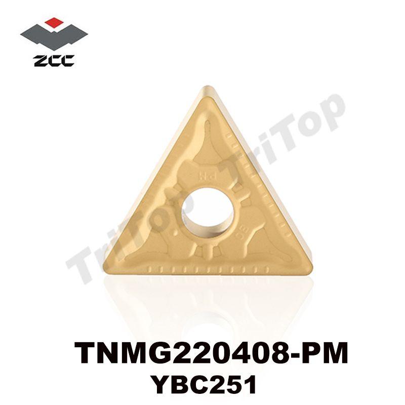 Zcc. Ct TNMG Inserts carbure cémenté plaquettes de tournage outils de coupe tour CNC cutter TNMG220408 PM YBC251 TNMG432