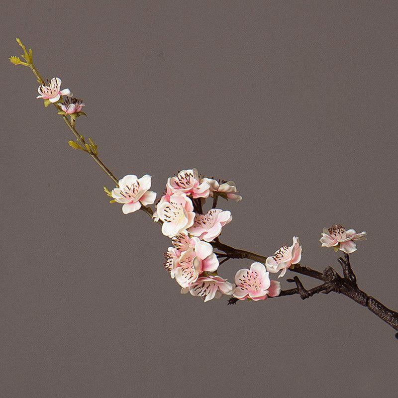 Super belles fleurs artificielles pastorale salon décoratif faux fleurs Style traditionnel chinois soie prune fleurs