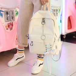 Fashion big capacity shopping bag laptop backpack rucksack canvas bags student mochila womens school Bags