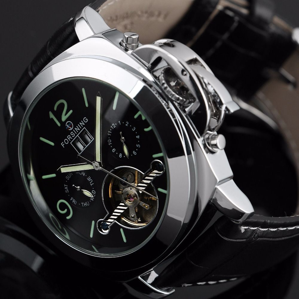 Forsining Automatic Mechanical Watch Men Montre Homme Relojes Relogio Masculino Luminous Erkek Kol Saati Watches Brand Luxury