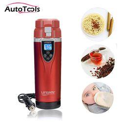 350 Ml Auto Mobil Heating Cup Adjustable Suhu Mobil Mendidih Mug Ketel Listrik Mendidih Kendaraan Termos Aksesoris Mobil