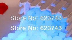1 kg envío libre azul guijarro luminoso en la oscuridad, resplandor azul guijarros Piedras, luminoso PS Pebble Piedras para el jardín y el acuario
