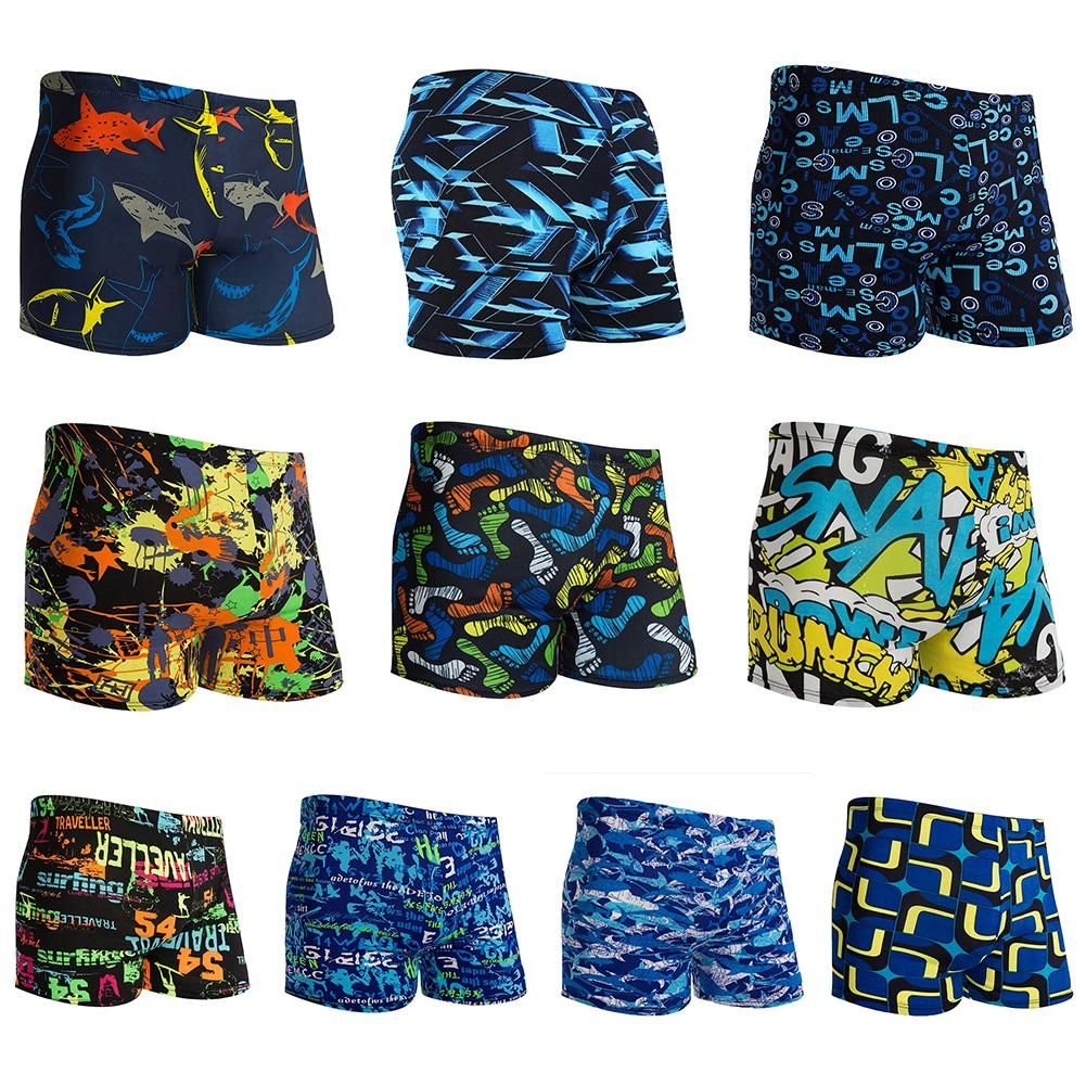 Men's Polyester Swimwear Natatorium Hot Spring Stall Swimming Trunk Offshore Beach Swimming Pool Home Leisure Swimming Pants