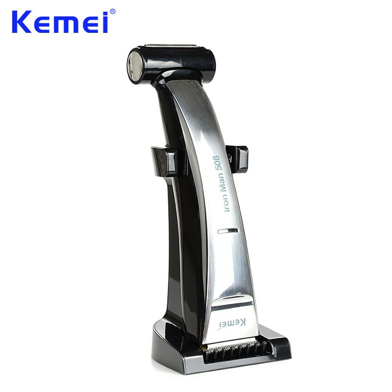 KEMEI 2 in 1 Beard Trimmer Hair Clipper Waterproof Rechargeable Shaver Razor bald cutting machine for Men Hair Cutting Tools