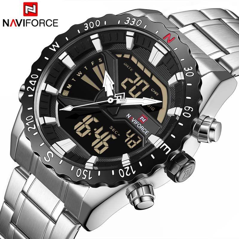 NAVIFORCE Luxury Brand Mens Quartz Analog Watch Men Fashion Sport Wristwatch Waterproof Stainless Male Clock Relogio Masculino