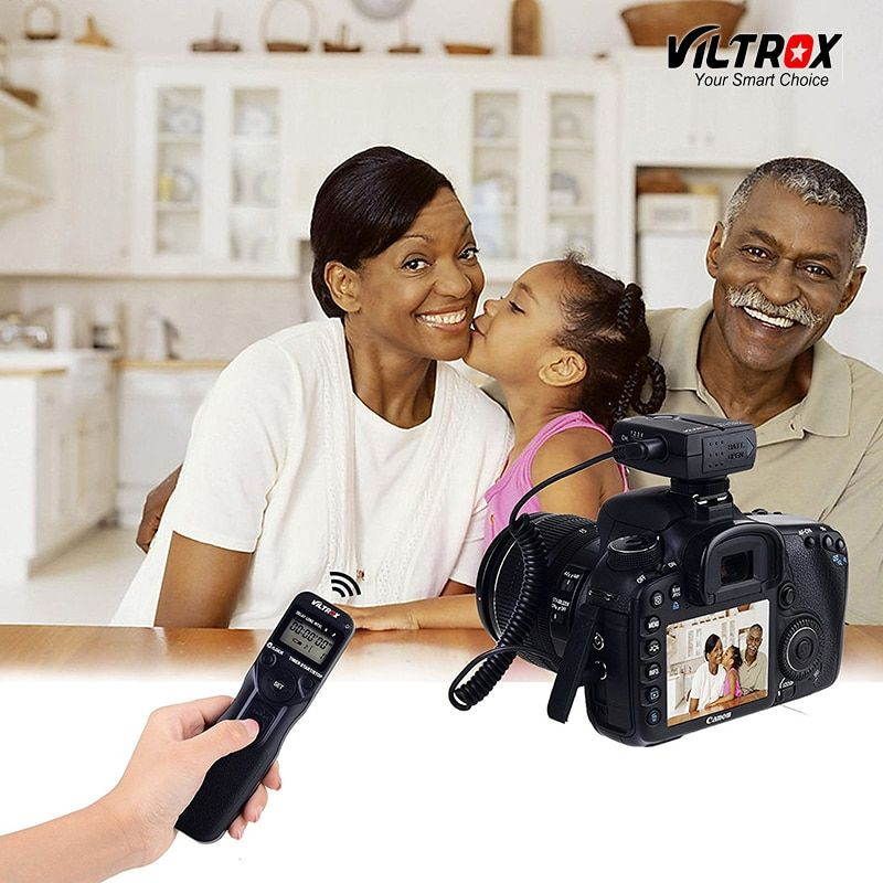 Viltrox JY-710 Camera Wireless Timer Remote Shutter Release Control LCD Display for Canon 77D 5D Mark IV Nikon d80 Sony Olympus