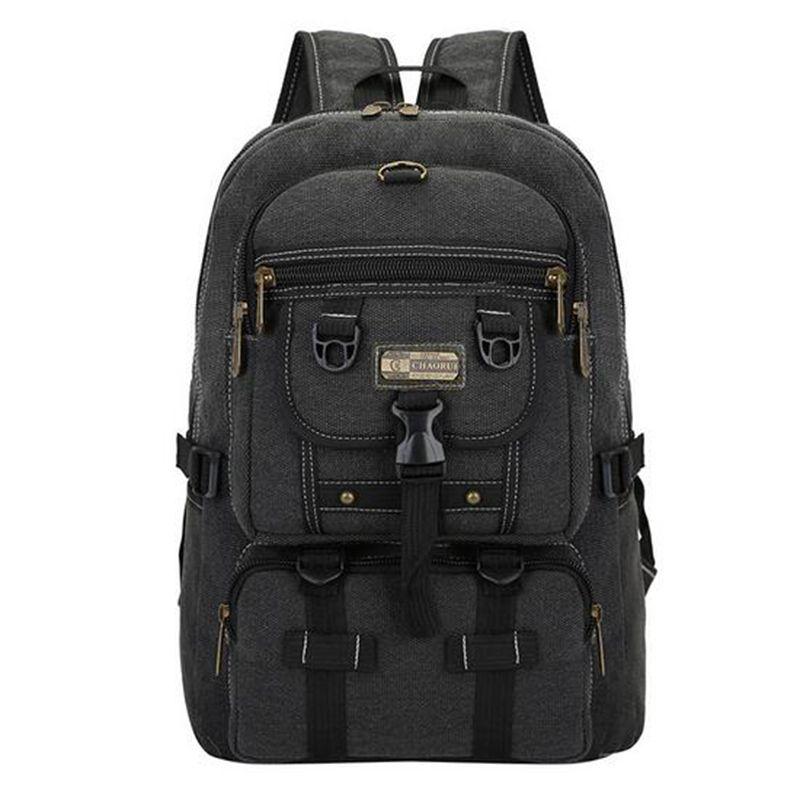 TOP POWER Men Bag Big Fashion Canvas Backpacks For Men Travel Large <font><b>Capacity</b></font> Arcuate Shoulder Strap Zipper Solid Male Backpack