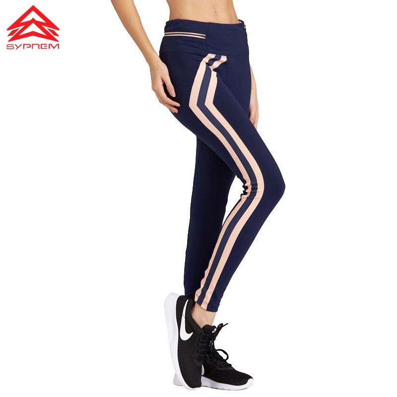 SYPREM 2017 Nouveau Style Femmes De Yoga Pantalon Haute Qualité Mince Running Fitness Leggings Bonne Élastique Profession Sport Pantalon, 1FP1068