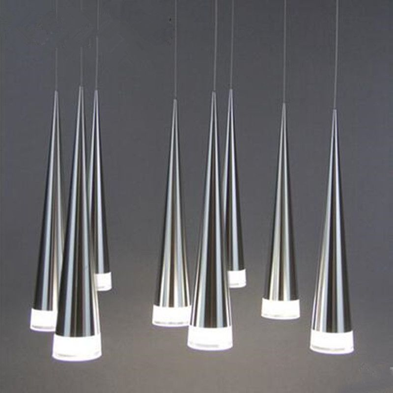Modern led Conical pendant light Aluminum metal home Industrial lighting hanging lamp dining living room cafe droplight fixture