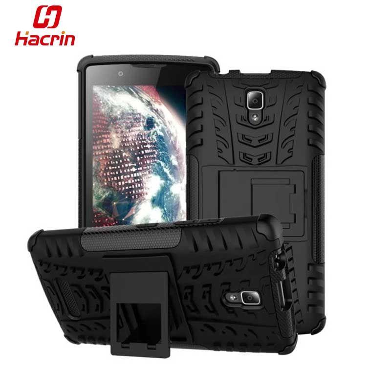 Hacrin Lenovo A2010 Couverture TPU & PC Double Armure cas avec Support à Silicone Couverture Antichoc Anti-Dérapage Combo Un 2010 Cas
