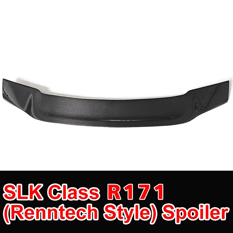 SLK Class R171 Model Carbon Fiber Gloss Black Renntech Style Rear Trunk Spoiler for Mercedes R171 Car Styling 2006 - 2011