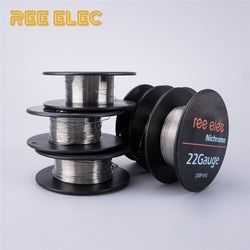 REE ELEC 10m/roll Ni80 Electronic Cigarette Heating Wire For RDA RTA Atomizer For DIY Prebuilt Coil Nichrome Wires