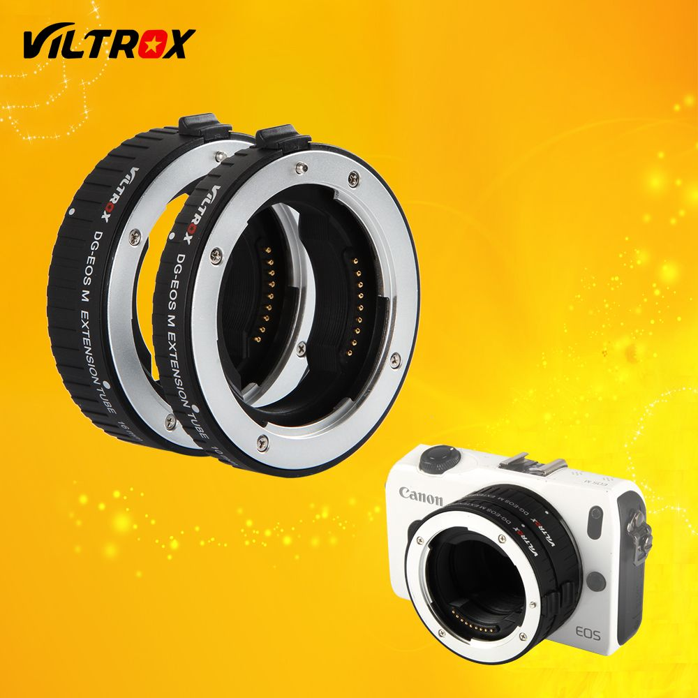 Viltrox DG-EOS M Auto Focus Macro Extension Tube Lens Adapter for Canon EF EF-S lens to EOS M EF-M M2 M3 M5 M6 M10 Mount Adapter