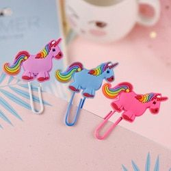 Cute Creative Unicorn Bookmark Kawaii Book Markers Paper Clip For Kids Gift Korean School Stationery Student Supplies