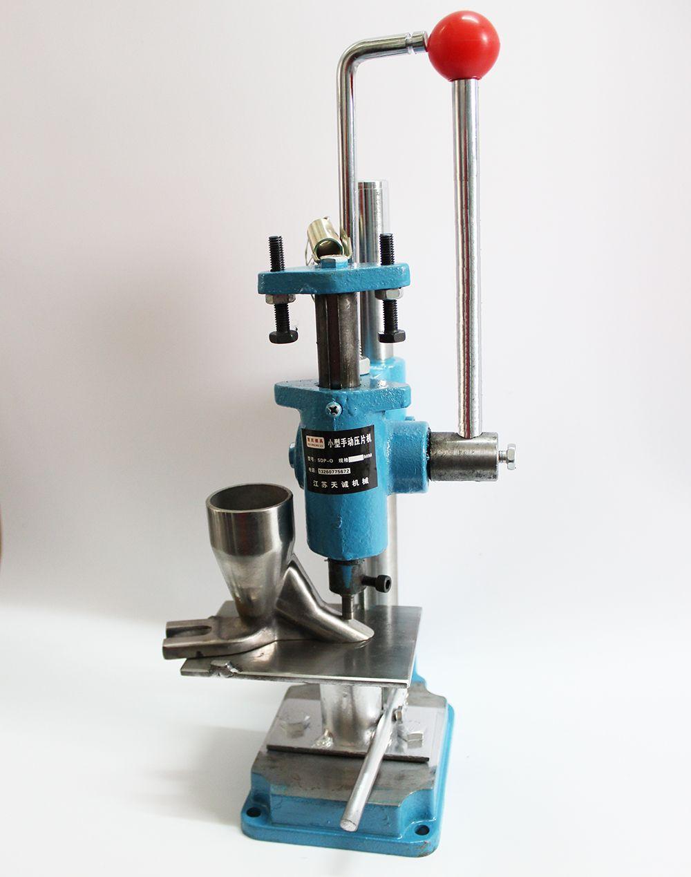 Free shipping SDP-0 Push Type Hand punch tablet press machine,herbal powders tableting machine,pill stamping machine