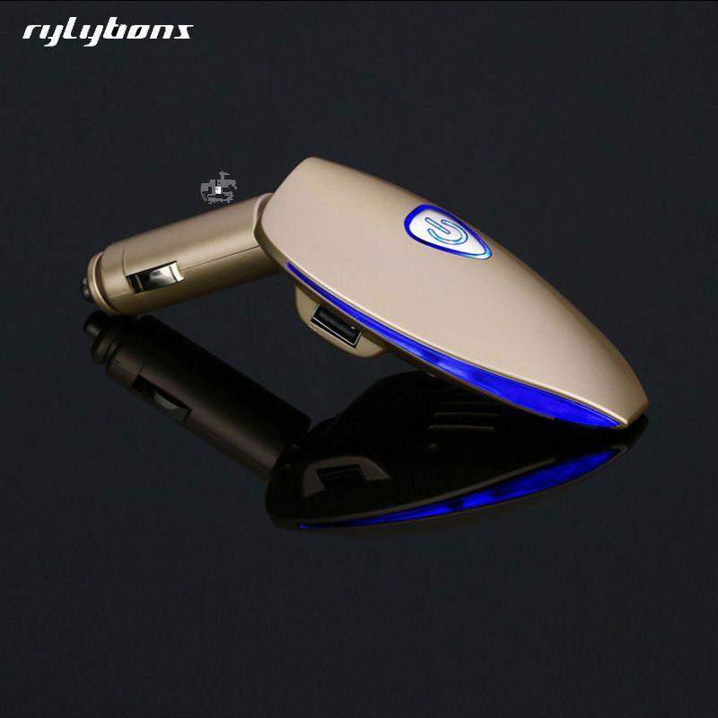 Auto Luft Reiniger Ionisator Lufterfrischer Sauerstoff Bar ionisator LED Licht Anzeige Dual USB Auto Ladegerät Negative Ionen Luft Reiniger