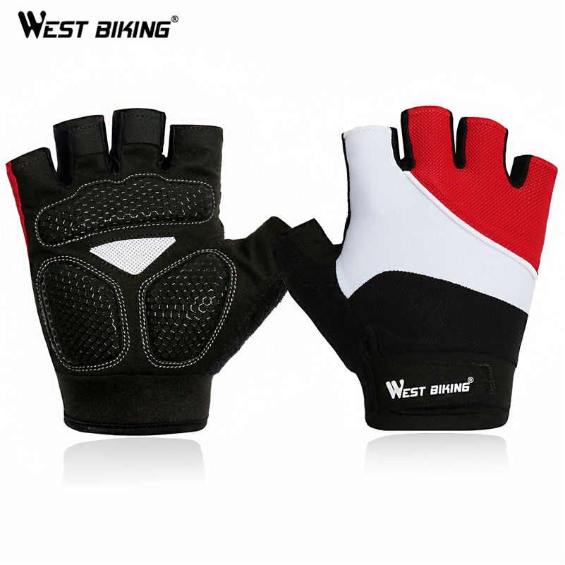 WEST BIKING Cycling Bicycle Gloves Racing Road Mountain Silicone Non-Slip Thicker palm breathable Bike Anti-wear Cycling Gloves