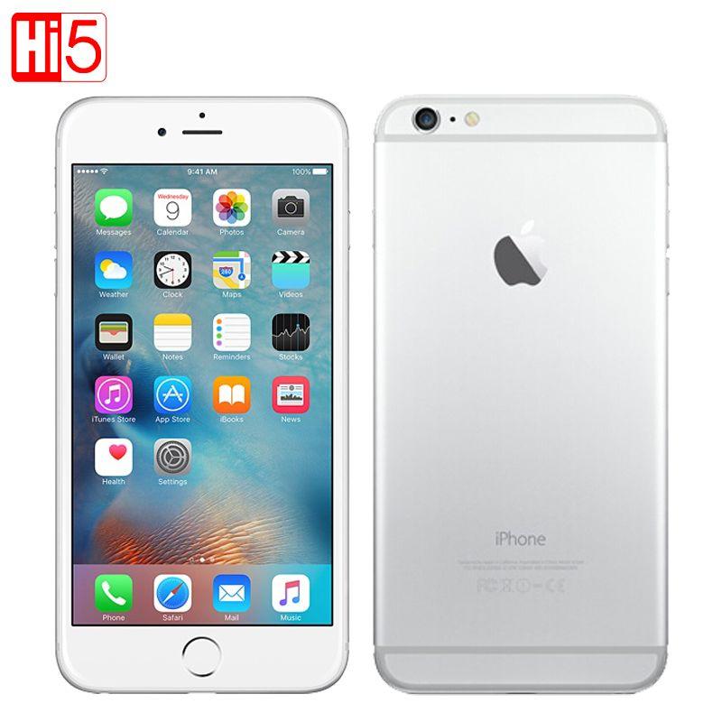 Unlocked Apple iPhone 6 <font><b>plus</b></font> Dual Core 16GB/64GB/128GB ROM 5.5 IOS 8MP Camera 4K video LTE fingerprint Single SIM smart phone
