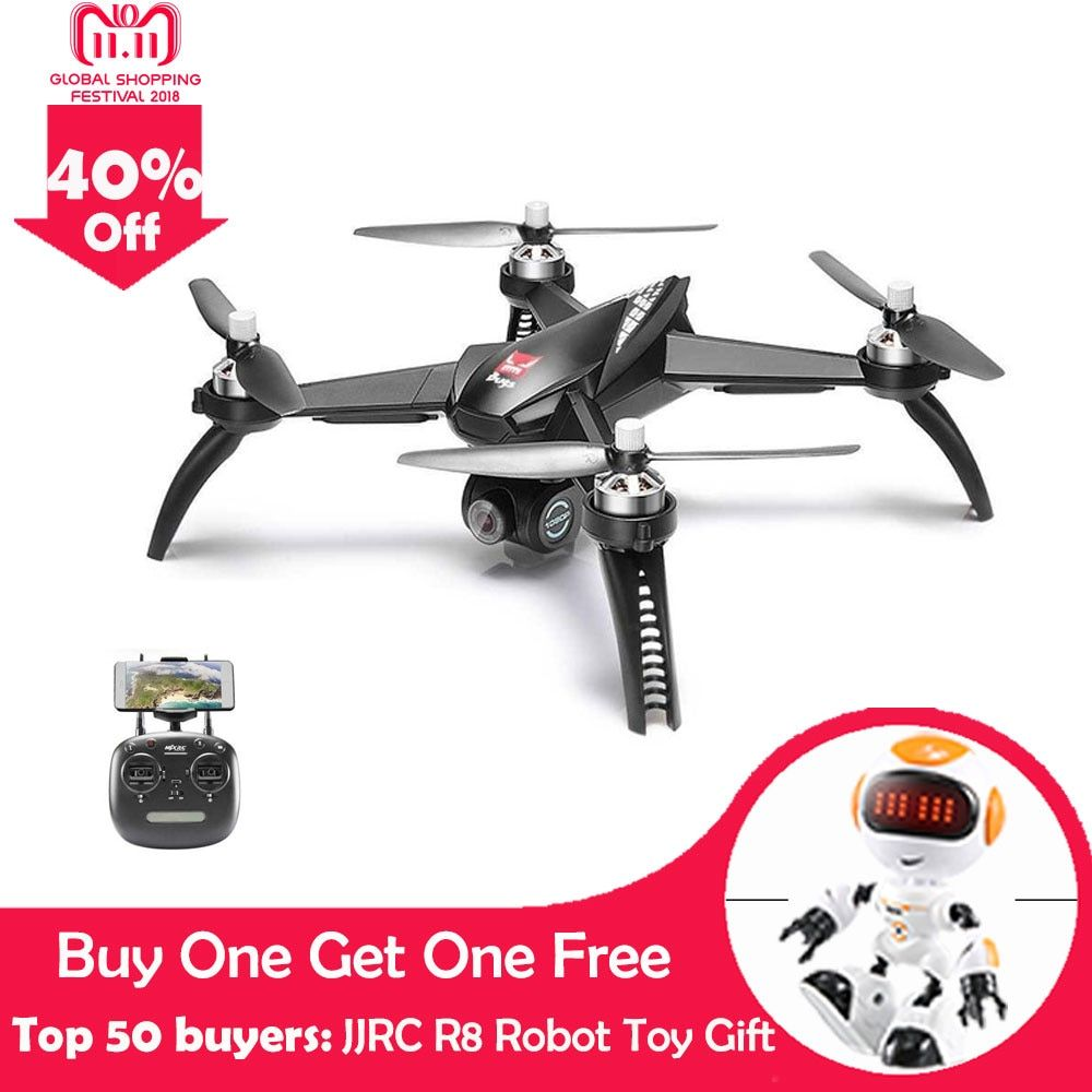 MJX Bugs 5 W B5W RC Drone RTF 5G WiFi FPV 1080P Camera With GPS Follow Me Mode RC Quadcopter vs MJX Bugs 2 B2W Helicopters D30