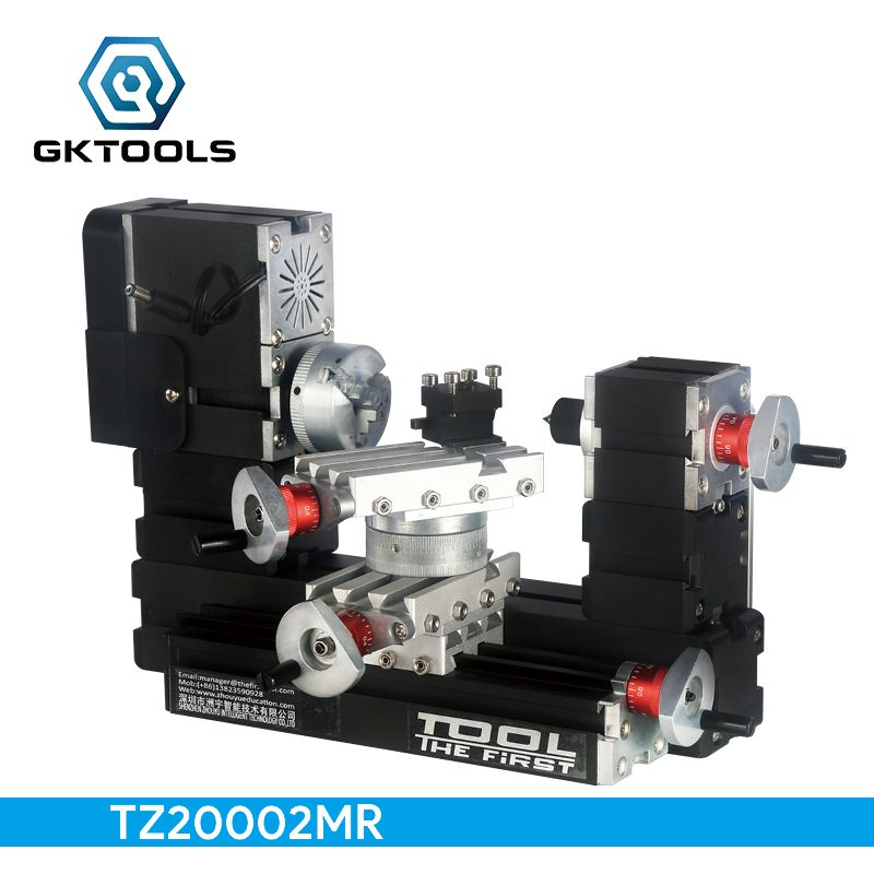 TZ20002MR DIY BigPower Mini Metal Rotating Lathe, 60W 12000r/min Motor, Standardized children education,BEST Gift